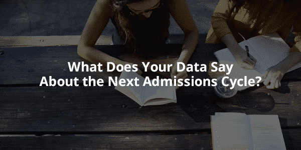 Data in the Admissions Cycle