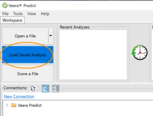Load saved analysis in Predict