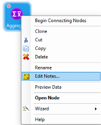 Right click edit notes in Construct