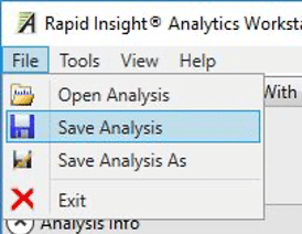 Save analysis in Predict