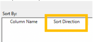 Sort direction in Construct