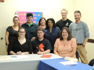 Dr. Harvey-Smith with students from River Valley Community College