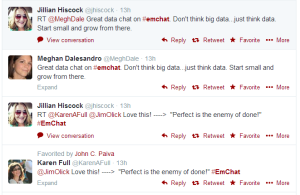 Twitter was hopping with #EMchat discussion during the Panel Discussion