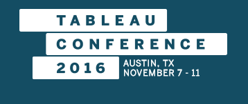 11/7 – 11/11 Tableau Conference 2016